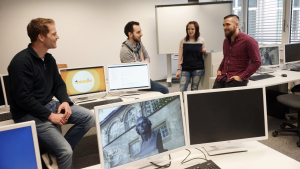 students in a computer pool at the university of jena