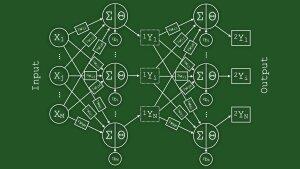 schematic of an artificial neural network